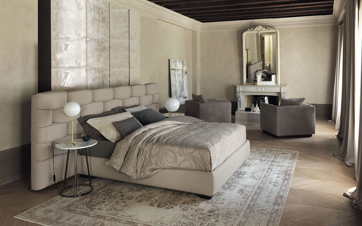 Letto Flou, camere da letto, comodini e comò - Showroom ad Oristano ...